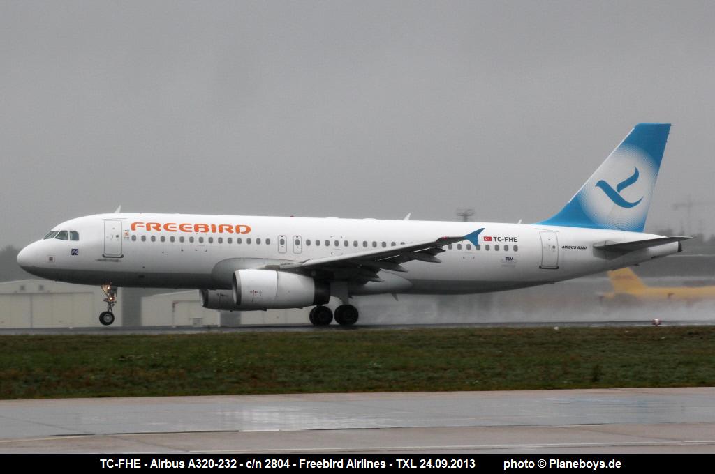 Tc Fhe Airbus A320 232 2804 Freebird Airlines